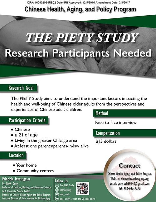 The PIETY Study Flyer in English